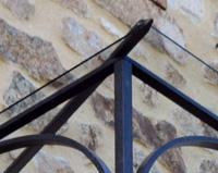 M01 - Marquise en fer forgé pour un corps de ferme à Bourg-Argental (42)